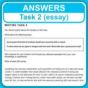 Task 2 Academic & General Training model answers