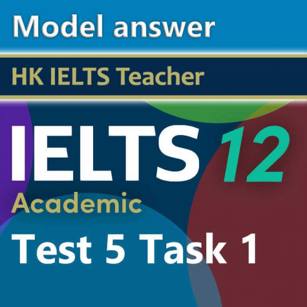 Cambridge IELTS 12 academic test 5 task 1 model answer