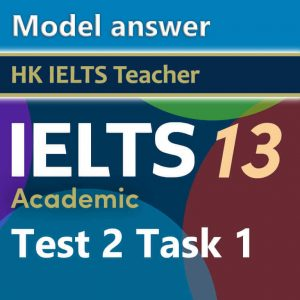 Cambridge IELTS 13 academic test 2 task 1 model answer