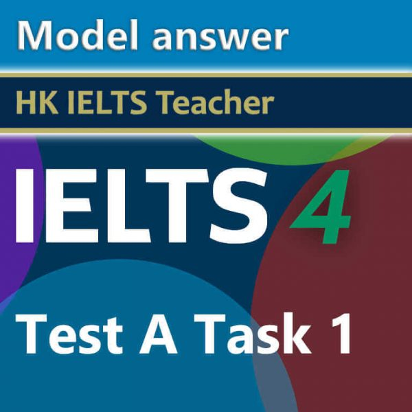 Cambridge IELTS 4 test A task 1 model answer